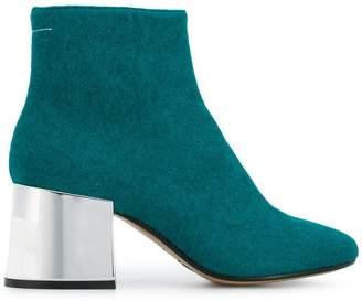 MM6 MAISON MARGIELA metallic heel ankle boots