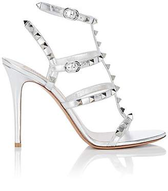 Valentino Women's Rockstud Leather Multi-Strap Sandals - Silver