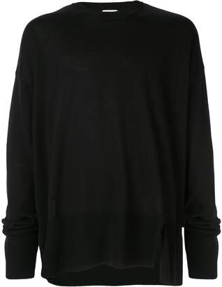 Wooyoungmi side slit oversized sweater