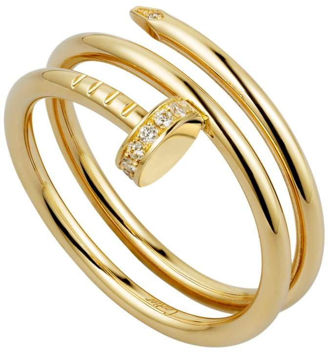 Yellow Gold and Diamond Double Juste un Clou Ring