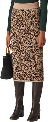 Whistles Jungle Cat Jacquard Pencil Skirt