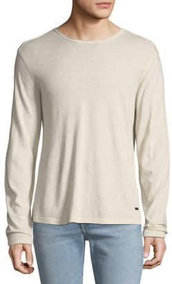 John Varvatos Men's Heathered Long-Sleeve T-Shirt