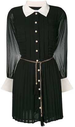 Edward Achour Paris chain belted shirt dress