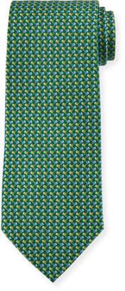 Salvatore Ferragamo Flag-Pattern Silk Tie