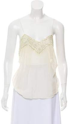 Chloé Sleeveless Embellished Top