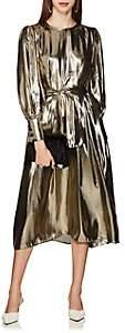 LES COYOTES DE PARIS Women's Drake Silk-Blend Lamé Belted Dress - Gold