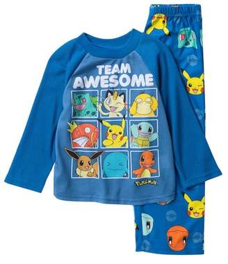 Pokemon AME Team Awesome Raglan Pajama Set (Little Boys & Big Boys)