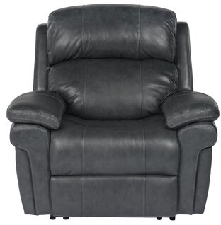 Red Barrel Studio Dipaolo Luxe Leather Power Reclining Chair Red Barrel Studio