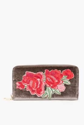 Azalea Rose Embroidered Clutch