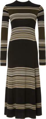 Proenza Schouler Striped Wool Maxi Dress Size: M