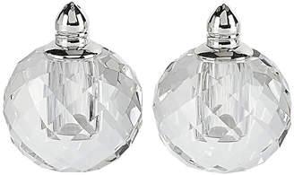 Badash Crystal Zendra Platinum Salt & Pepper Shaker Pair