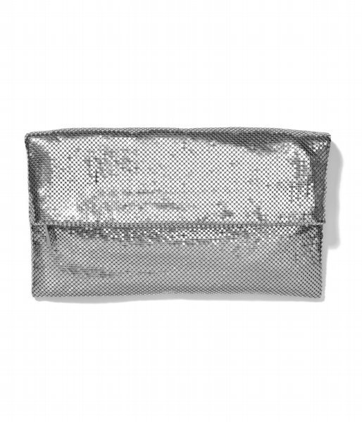 Metal Mesh Fold-Over Clutch