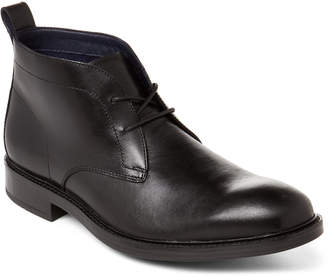 Cole Haan Black Leather Kennedy Grand Chelsea Waterproof Boots