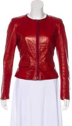 Prada Ruched Leather Jacket