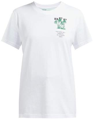 Off-White Off White Island Logo Cotton T Shirt - Womens - White