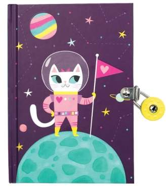 Chronicle Books Space Cat Glow-in-the-Dark Locked Diary