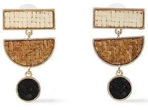 Kenneth Jay Lane Gold-Tone Woven Earrings