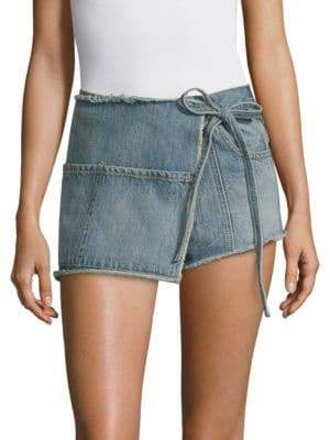 Sandy Liang Perry Denim Skort