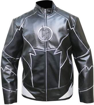 Hunter The Jasperz The Flash Zoom Zoloman Halloween Costume Synthetic Leather Jacket,XL