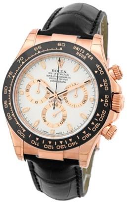 Rolex Daytona Cosmograph 18K Rose Gold & Ceramic Mens Watch $21,290 thestylecure.com