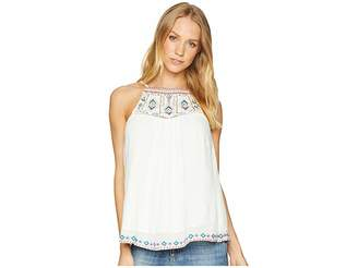 Miss Me Back Tassel Embroidered Top