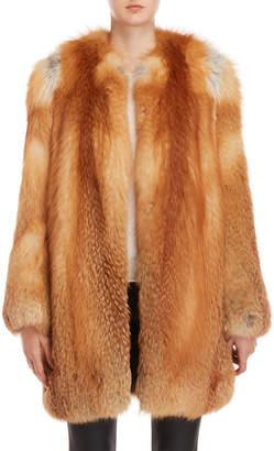 Yves Salomon Real Fur Long Coat