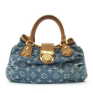 Louis Vuitton Blue Cloth Handbag
