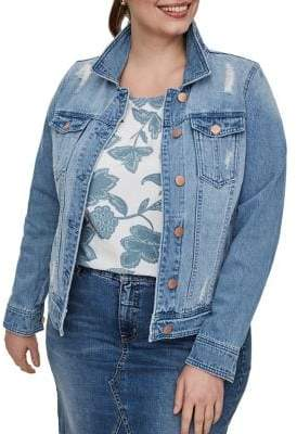 Junarose Plus Altala Long-Sleeve Denim Jacket