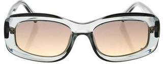 Le Specs Rectangular Gradient Sunglasses