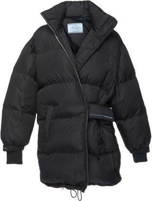 Prada Quilted Shell Puffer Coat