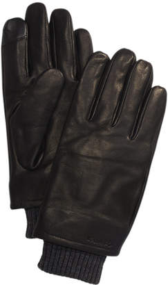 Calvin Klein Men Leather Touch-Screen Gloves