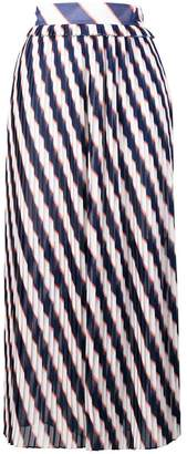 Golden Goose Hamal striped midi skirt