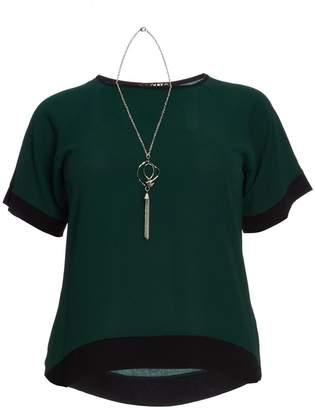 Quiz Curve Bottle Green Necklace Top