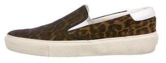 Saint Laurent Suede Slip-On Sneakers