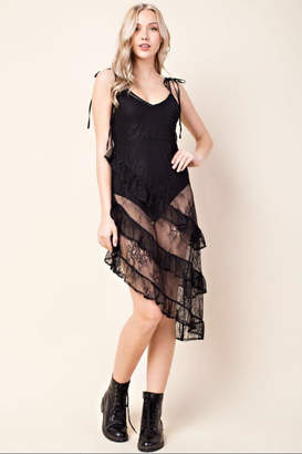 Honey Punch Black Lace Dress