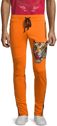 Robin's Jean Tiger Patch Cotton-Blend Jogger Pants