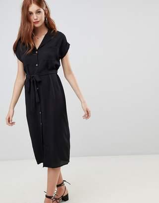 New Look Plain Collared Midi Shirt Dress