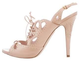 Miu Miu Perforated High-Heel Sandals