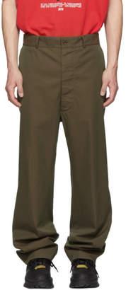 Maison Margiela Green Gabardine Tonic Trousers