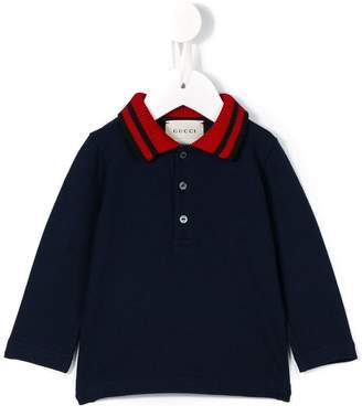 Gucci Kids Web collar polo shirt