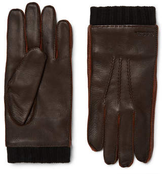 Paul Smith Leather Gloves - Dark brown