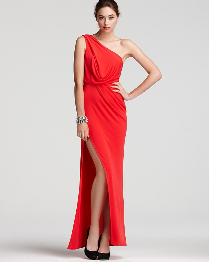 BCBGMAXAZRIA Gown - One Shoulder Grecian