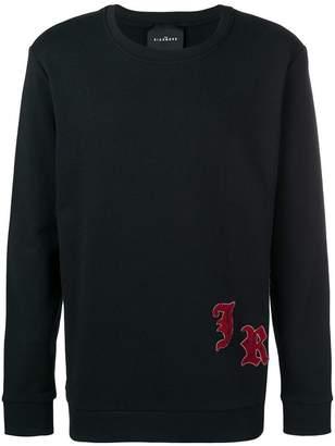John Richmond initials patch sweatshirt