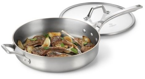 Calphalon 5-qt. Stainless Steel AccuCore Saute Pan with Cover