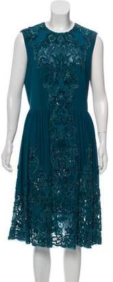 Elie Saab Embellished Silk-Blend Dress w/ Tags