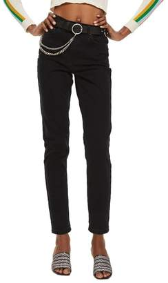 Topshop Black Mom Jeans