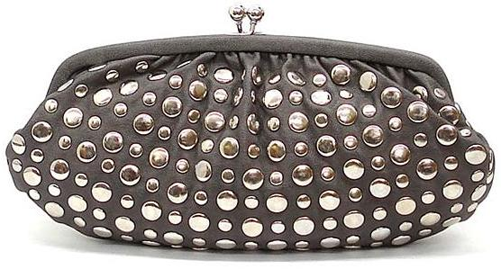 Studded Clutch- Gunmetal
