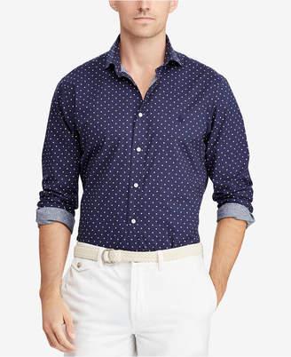 Polo Ralph Lauren Men Big & Tall Classic Fit Polka-Dot Shirt