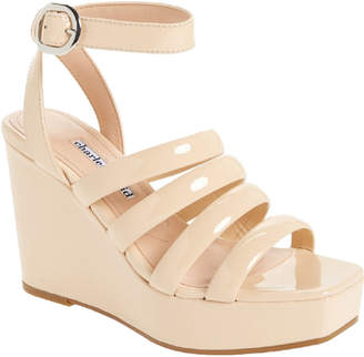 Charles David Judy Patent Wedge Sandal