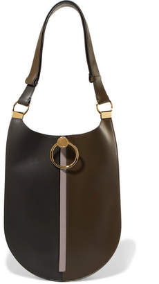 Marni Earring Leather Shoulder Bag - Dark green